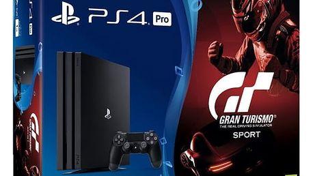 Herní konzole Sony PRO 1TB + Gran Turismo Sport + PS Plus 14 dní (PS719905967) černá + DOPRAVA ZDARMA