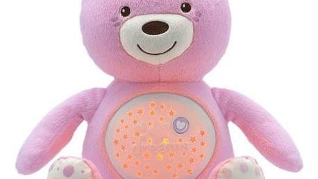 CHICCO Medvídek s projektorem - růžová