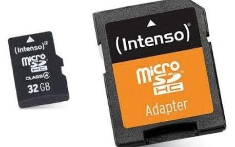Paměťová karta Micro SD s adaptérem INTENSO 3413480 32 GB Třída 10