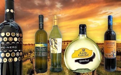 Kvalitní italská vína a prosecco - perly itálie