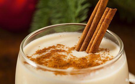 Horký vanilkový krém a svařená šťáva se skořicí