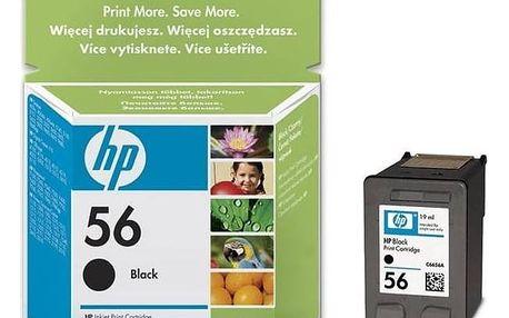 Inkoustová náplň HP No. 56, 19ml, 520 stran - originální (C6656AE) černá + Doprava zdarma
