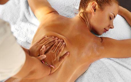100minutová uvolňující celková masáž zad a nohou