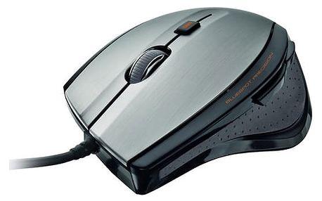 Myš Trust MaxTrack (17178) černá/stříbrná / optická / 6 tlačítek / 1600dpi