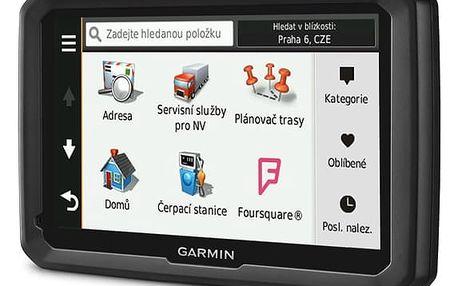 Navigační systém GPS Garmin dezl 770T Lifetime Europe45 černá + DOPRAVA ZDARMA