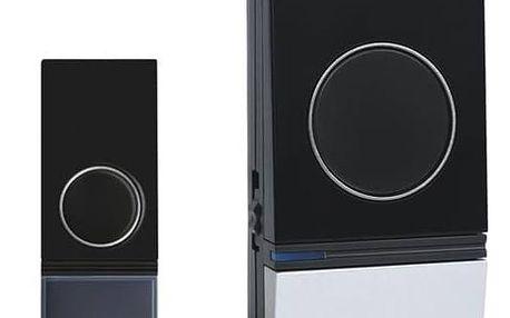 Zvonek bezdrátový Solight 1L29, do zásuvky, 200m (1L29) černý/stříbrný + Doprava zdarma
