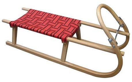 Sáně Acra Dřevěné 110 cm červené + Doprava zdarma