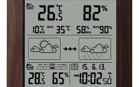 Meteorologická stanice Hyundai WS 2244 W hnědá + Doprava zdarma