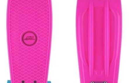 Penny board Nils Extreme Extreme růžový + Reflexní sada 2 SportTeam (pásek, přívěsek, samolepky) - zelené v hodnotě 58 Kč + Doprava zdarma