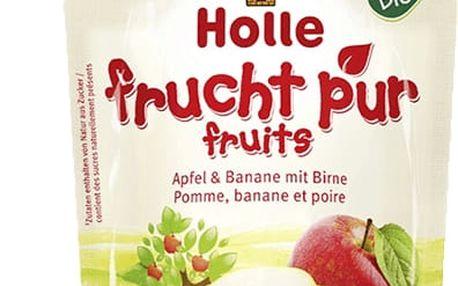 6x HOLLE Bio Ovocné pyré jablko, banán a hruška, 90 g
