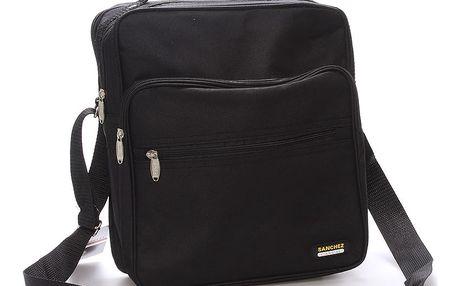 Pánská látková taška přes rameno černá - Sanchez Nial černá