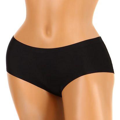 Jednobarevné kalhotky invisible černá
