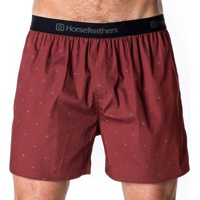 Pánské Trenky Horsefeathers Frazier Boxer Shorts Ruby XL