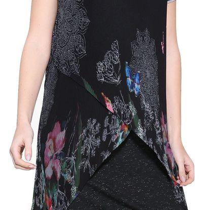 Desigual černé plizované šaty Sara