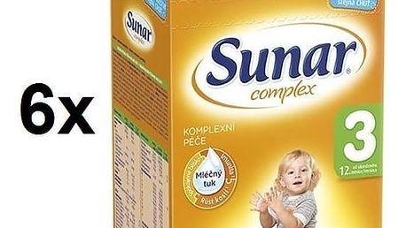 Kojenecké mléko Sunar Complex 3, 600g x 6ks + Doprava zdarma