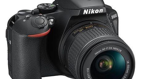 Digitální fotoaparát Nikon D5600 + 18-55 AF-P VR (VBA500K001) černý + DOPRAVA ZDARMA
