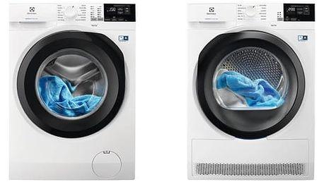 Set (Sušička prádla Electrolux PerfectCare 800 EW8H458BC) + (Automatická pračka Electrolux PerfectCare 600 EW6F428BC) + DOPRAVA ZDARMA