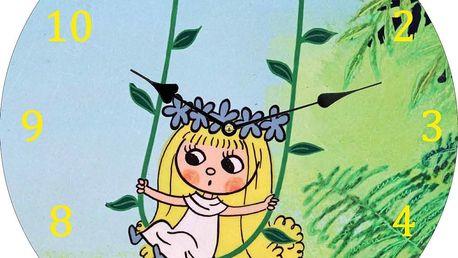 Nástěnné hodiny Víla Amálka, 34 cm