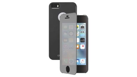 Pouzdro na mobil flipové CellularLine Touch pro Apple iPhone 5/5s/SE (BOOKTOUCHIPH5K) černé