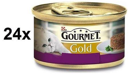 Konzerva Gourmet Gold Savoury Cake s jehněčím a zelenými fazolkami 24 x 85g