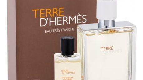 Hermes Terre D´Hermés Eau Tres Fraiche dárková kazeta pro muže toaletní voda 75 ml + sprchový gel 40 ml
