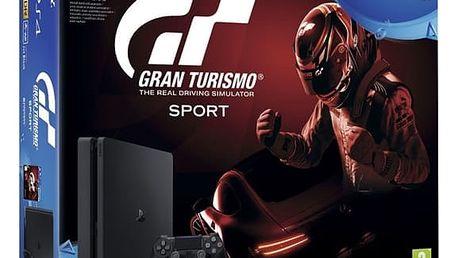 Herní konzole Sony SLIM 1TB + Gran Turismo Sport + PS Plus 14 dní (PS719907268) černá + DOPRAVA ZDARMA