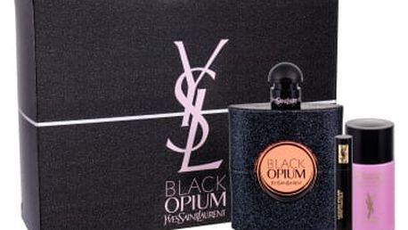 Yves Saint Laurent Black Opium dárková kazeta pro ženy parfémovaná voda 90 ml + řasenka Volume Effet Faux Cils Baby Doll Noir No1 2 ml + odličovač Top Secrets Micellar Water 50 ml