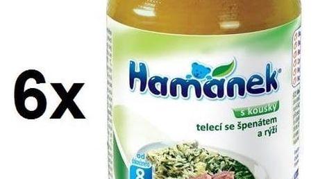 Příkrm Hamánek telecí se špenátem a rýží 6x230g