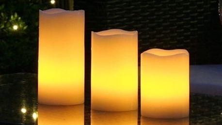 3 LED svíčky s dálkovým ovládáním a volbou barev