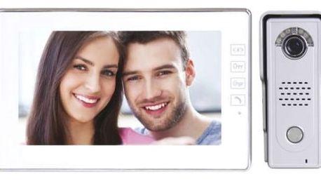 Domácí videotelefon EMOS s pamětí, barevná sada, H1019