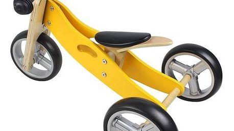 Dřevěné odrážedlo Nicko 2v1 mini žluté + Doprava zdarma