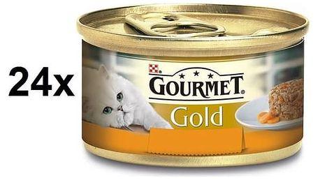 Konzerva Gourmet Gold Savoury Cake s kuřetem a mrkví 24 x 85g