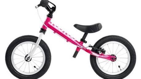 Odrážedlo Yedoo Too Too růžové Reflexní sada 2 SportTeam (pásek, přívěsek, samolepky) - zelené + Doprava zdarma