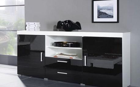 Samba - regal 5 (bílá/černá)