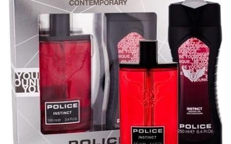 Police Instinct dárková kazeta pro muže toaletní voda 100 ml + sprchový gel 250 ml