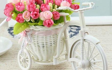 Kolo s proutěným košíkem a květinou - různé barvy