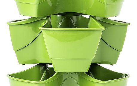 Prosperplast Coubi 29,5 x 29,5 x 38 cm zelený