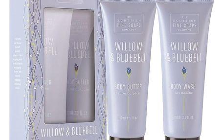 SCOTTISH FINE SOAPS Dárková sada tělové kosmetiky Willow & Bluebell, modrá barva, plast, papír
