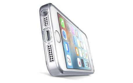 Kryt na mobil CellularLine Clear Duo pro Apple iPhone 5/5s/SE (CLEARDUOIPH5T) průhledný