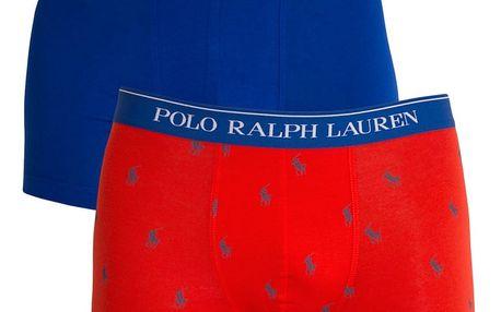 2PACK pánské boxerky Ralph Lauren modro oranžové s logem M
