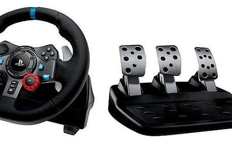 Volant Logitech G29 Driving Force pro PS3, PS4, PC + pedály (941-000112) černý Dárek Logitech – Gillette Fusion Proglide Flexball + Doprava zdarma