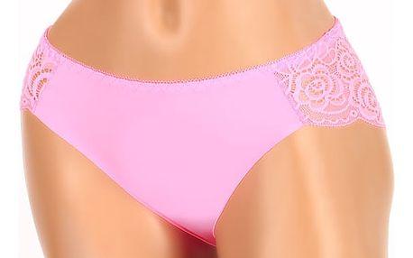 Kalhotky s krajkovou zadní částí růžová