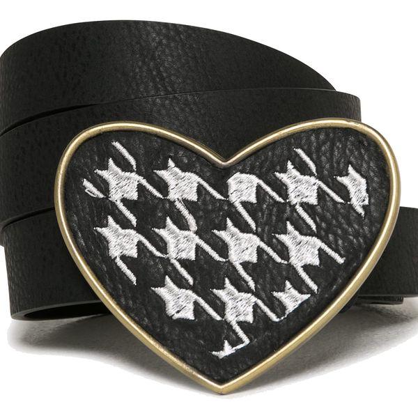 Desigual černý pásek To the Office se srdcem