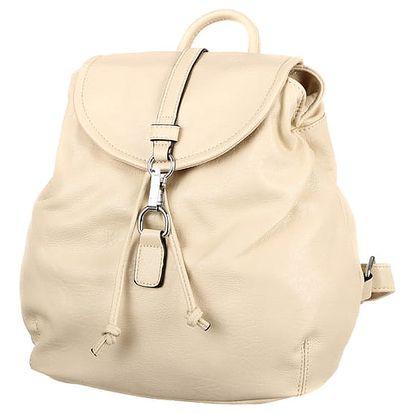 Jednoduchý batoh se zapínáním na sponu béžová
