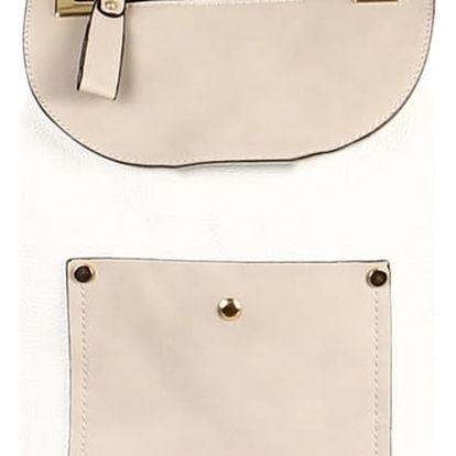 Koženkový retro batoh bílá