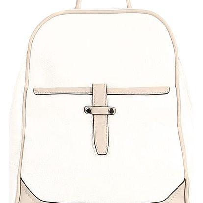 Malý koženkový batoh bílá