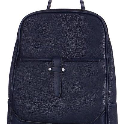 Malý koženkový batoh modrá