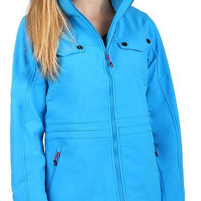 Dámská softshellová bunda na zip modrá