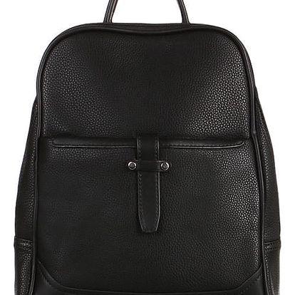 Malý koženkový batoh černá
