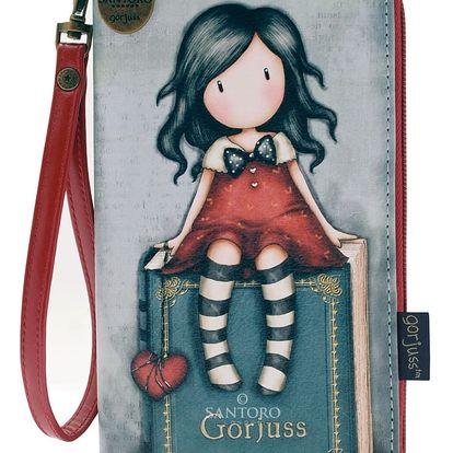 Santoro modro-červená peněženka Gorjuss My Story